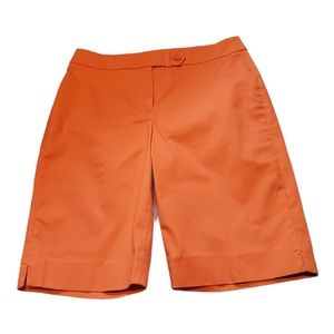 Jones New York Stretch Coral Bermuda Shorts Sz 10